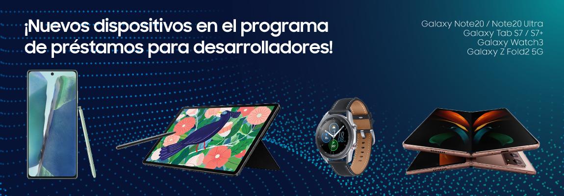 Ampliamos el programa de préstamo de dispositivos: la familia Galaxy Note20, Galaxy Tab S7/S7+, Galaxy Watch3 y Galaxy Z Fold2 5G