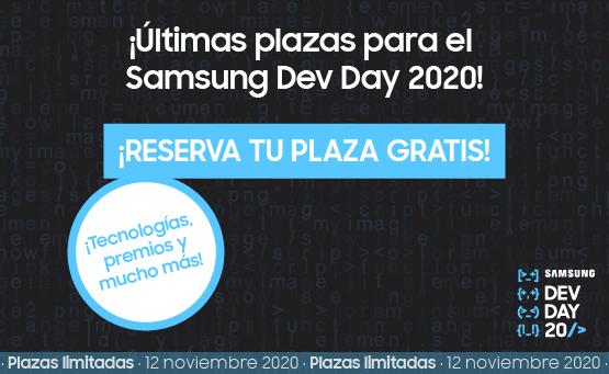 Samsung Dev Day 2020: quedan pocas plazas ¡no te lo pierdas!