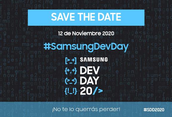 El próximo 12/11 tienes una cita virtual en el Samsung Dev Day ¡no te lo pierdas!