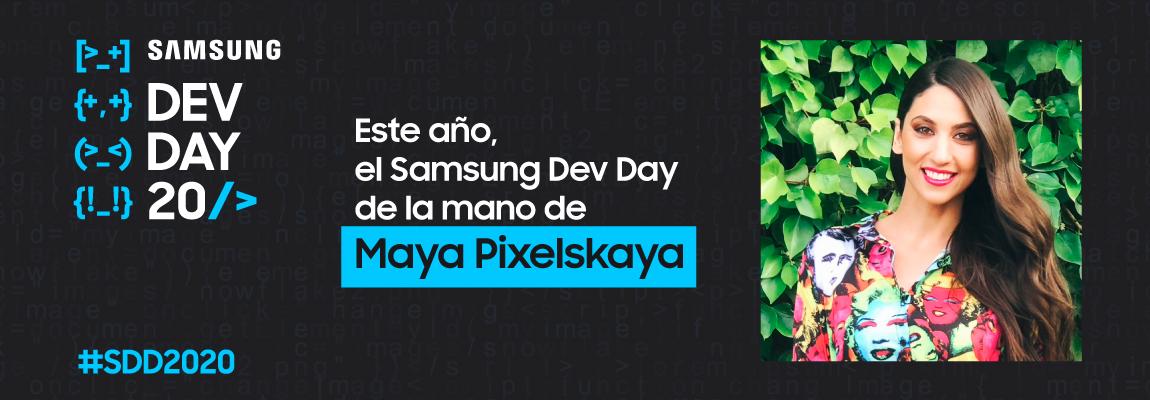 Entramos en la cuenta atrás para el Samsung Dev Day: Maya Pixelskaya será nuestra maestra de ceremonias