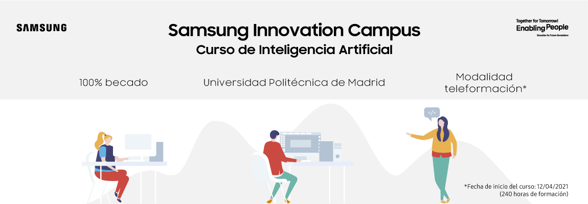 Nueva convocatoria para apuntarse a Samsung Innovation Campus Curso de Inteligencia Artificial con la UPM