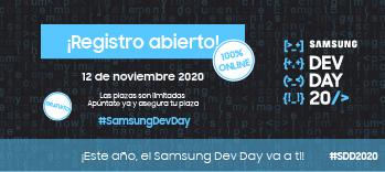 ¡Apúntate ya al Samsung Dev Day 2020 y asegura tu plaza, este año es 100% online!