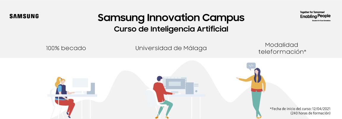 Abierta la convocatoria a la nueva edición de Samsung Innovation Campus Curso de Inteligencia Artificial con la Universidad de Málaga