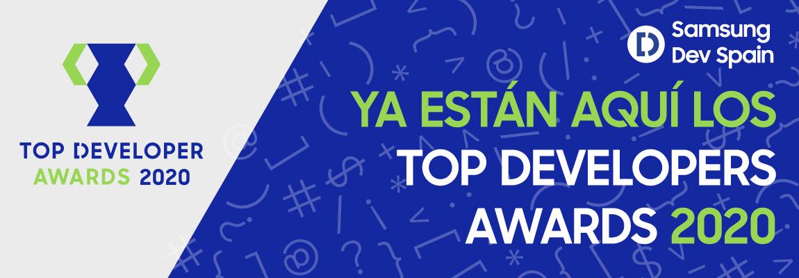 """Abrimos la convocatoria para los """"Top Developer Awards 2020"""" de Samsung Dev Spain"""