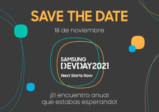 ¡Ya está aquí el Samsung Dev Day 2021! El próximo 18 de noviembre tienes una cita virtual
